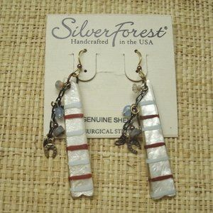 Southwest Style Shell Earrings Handcrafted
